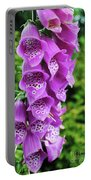 Purple Foxglove Portable Battery Charger