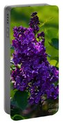 Purple French Lilac Portable Battery Charger