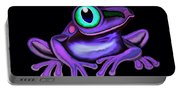 Purple Frog  Portable Battery Charger