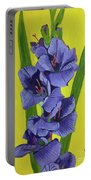 Purple Gladiolas Portable Battery Charger