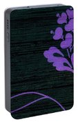 Purple Glamour On Black Weave Portable Battery Charger