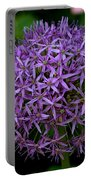 Purple Globe Thistle Portable Battery Charger