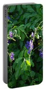 Purple Hanging Flowers Portable Battery Charger
