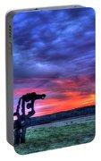 Purple Haze Sunrise The Iron Horse Portable Battery Charger