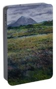 Purple Heather And Mount Errigal From Dore Co. Donegal Ireland   Portable Battery Charger