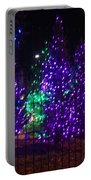Purple Holiday Lights Portable Battery Charger