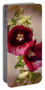 Purple Hollyhock Duo Portable Battery Charger