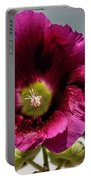Purple Hollyhock Portable Battery Charger