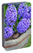 Purple Hyacinth Flowers Planter Portable Battery Charger