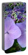Purple Hydranga Flowers Art Prints Baslee Troutman Portable Battery Charger