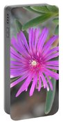 Purple Ice Flower Close Up Portable Battery Charger