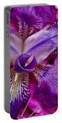 Purple Iris Abstract Portable Battery Charger