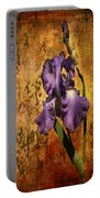 Purple Iris At Sunset Portable Battery Charger