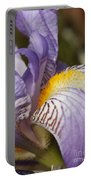 Purple Iris Closeup Portable Battery Charger