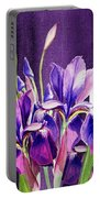 Purple Iris Dance  Portable Battery Charger
