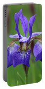 Purple Iris Portable Battery Charger