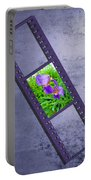 Purple Iris Passion Portable Battery Charger