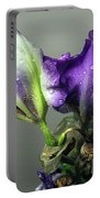 Purple Iris Water Drops Portable Battery Charger