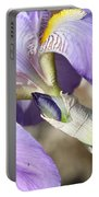 Purple Iris With Focus On Bud Portable Battery Charger