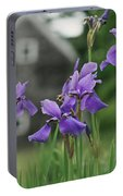 Purple Irises Portable Battery Charger