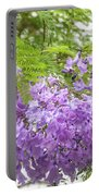 Purple Jacaranda Flowers Close-up  Portable Battery Charger