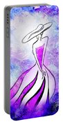 Purple Lady Charm Portable Battery Charger