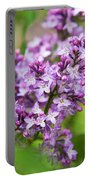 Purple Lilac Flowers Portable Battery Charger