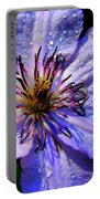 Purple Lilly Portable Battery Charger