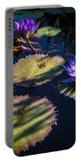 Purple Lily Portable Battery Charger