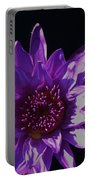 Purple Lily Monet Portable Battery Charger