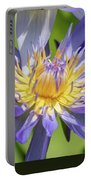 Tropical Purple Water Lily Portable Battery Charger