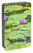 Purple Lotus Flowers Portable Battery Charger