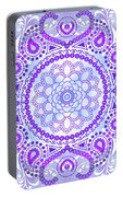Purple Lotus Mandala Portable Battery Charger