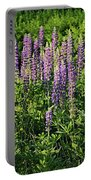 Purple Lupines In Summer Portable Battery Charger