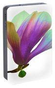 Purple Magnolia Portable Battery Charger