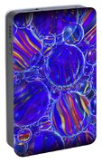 Purple Marbles Shower Curtain Portable Battery Charger
