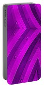 Purple Maze Portable Battery Charger