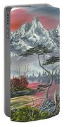 Purple Mountain Lake Portable Battery Charger