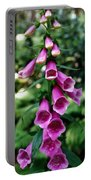 Purple Mouth Flowers Portable Battery Charger