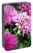 Purple Mums Portable Battery Charger