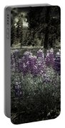 Purple On The Forest Floor Portable Battery Charger