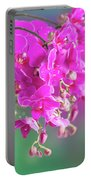 Purple Orchid Branch Portable Battery Charger