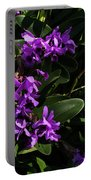 Purple Orchid Plant Portable Battery Charger