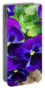 Purple Pansies Portable Battery Charger