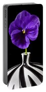 Purple Pansy Portable Battery Charger by Garry Gay
