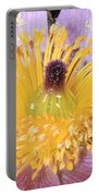 Purple Pasque Flower With Pollen Portable Battery Charger