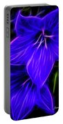 Purple Passion Portable Battery Charger by Joann Copeland-Paul