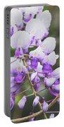 Purple Petals Portable Battery Charger