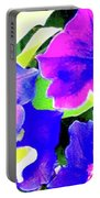 Purple Petunias 1 Portable Battery Charger