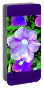 Purple Petunias 2 Portable Battery Charger